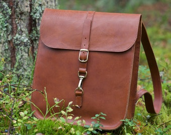 Backpack Brown Genuine leather yak