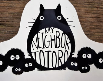 Studio Ghibli Totoro and Soot Sprites Vinyl Decal Window Sticker