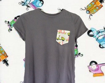 Scoot scoot- scooter pocket tee
