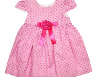 Girls beautiful lined cotton dress in sizes from newborn to 2 years