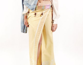 SALE! 40% discount. Esaouira yellow skirt