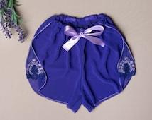 Lingerie Shorts, Burlesque Lingerie, Sexy Sleepwear, Womens Underwear,  Lace Lingerie, Sheer Knickers, Bow Panties, Womens Boyshorts