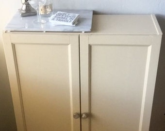 Hideaway Cabinet with Crystal Knobs