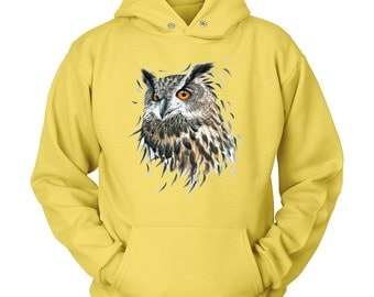 Owl Hooded Sweatshirt - Wildlife Shirts for Conservation