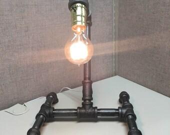 Industrial Pipe Lamp Metal Edison Bulb