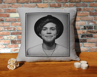 Ashton Irwin Cushion Pillow - Popart - Silver Grey - 100% cotton - 16x16 inches