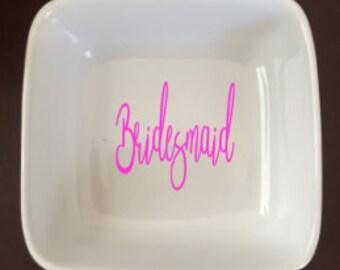 Bridesmaid Ring dish