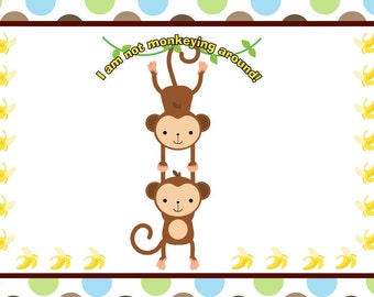 Monkeying Around Personalized Size Placemat