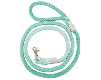 Rope Dog Leash-Aquamarine Ombré