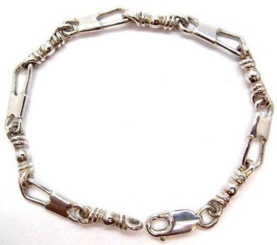 acts bracelet fishers of sterling silver medium link