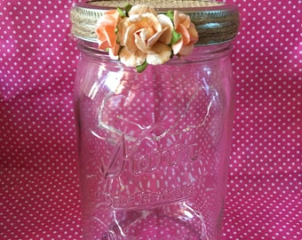 Mason jar string light lantern.