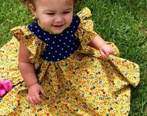 Vintage Love baby doll dress- size 2T- ready to ship