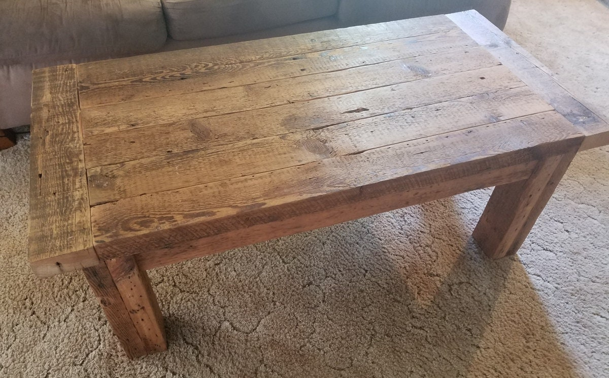 Rustic Coffee Table Farmhouse Coffee Table