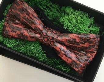 Snake skin Bow Tie