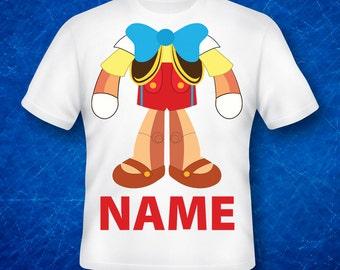pinocchio,pinocchio Shirts,pinocchio Birthday Shirt, Custom Made