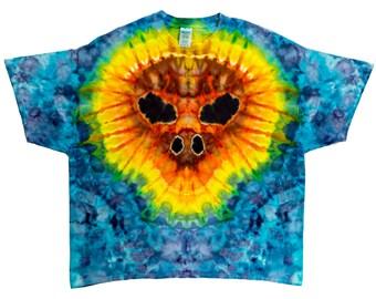 Tie Dye Shirt - Flame Skull - 3XL - #2023