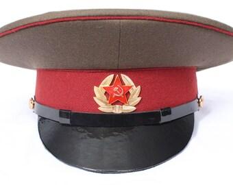 USSR Russian military visor hat internal troops  MVD Sergeants of Soviet Army