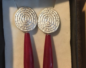 Brass earrings and Ruby root