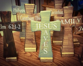 Personalized Wood Cross, Custom Made to Order,