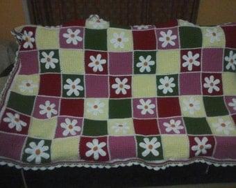 Daisy Flower Blanket