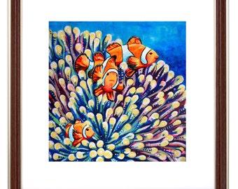 Clown Fish - Bright Art Print