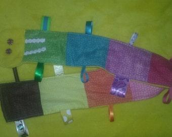 Rainbow Caterpillar Tag Blanket