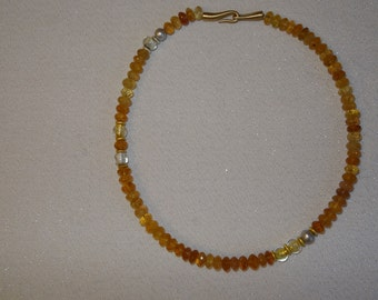 Citrine gemstone necklace - noble and valuable