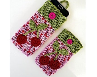 "ebook: Smartphone Cozy ""Cherry"" Crochet Pattern"
