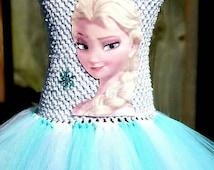 Elsa Dress Elsa Tutu Frozen Dress Elsa Birthday Outfit Tutu Frozen Tutu Outfit Frozen Birthday Frozen Birthday Outfit Frozen Tutu Elsa Kids