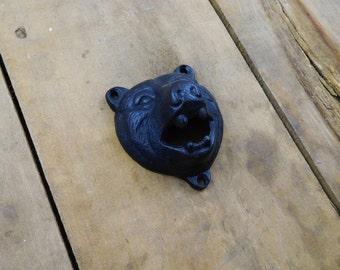 Bear's Head Wall Mount Bottle Opener
