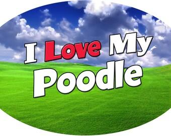 """Custom Made """"Poodle"""" Magnet"""