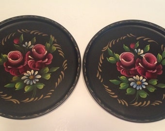 Vintage Tole Tray by E.T. Nash Co