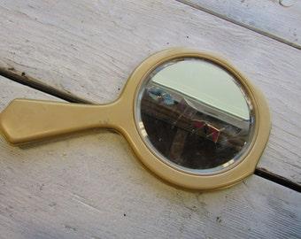 Vintage Art Deco Bakelite Hand Mirror