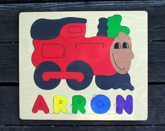 Train Picture Name Puzzles, Handmade, Wooden Name Jigsaw Puzzles