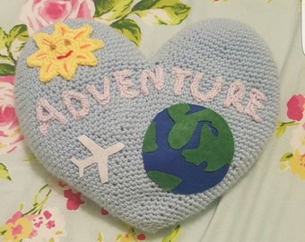 Heart Shaped Personalised Pillow