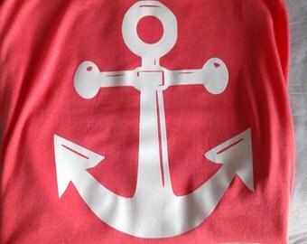 Cute anchor tank top