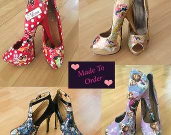 Made to order Decoupage Shoes