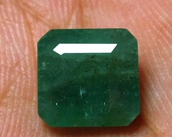 9x9x5 MM,3.60 Cts,100%Natural Emerald Stone,,Pct 195,Zambian emerald stone,Loose Gemstone