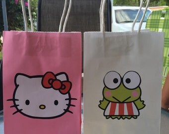 Candy bags inspired by Hello Kitty and Keroppi