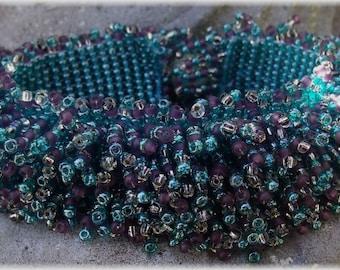 Unusual beads fringe bracelet
