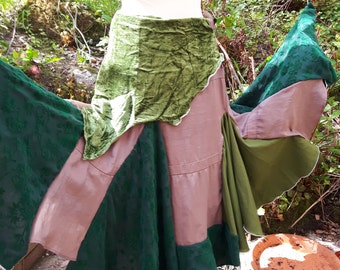 Forest fairy full gypsy skirt