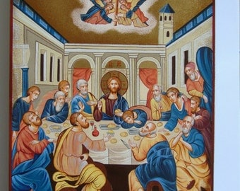 Byzantine icon of the last supper