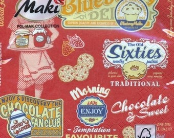 Decoupage Napkin - American Vintage Foods