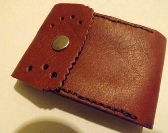 Brown leather cigarette case. original and unique. made to last.