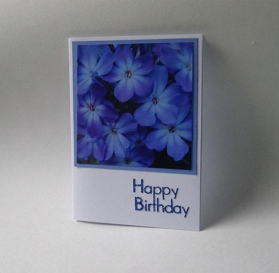 Birthday Card with Blue Phlox Flower - #648