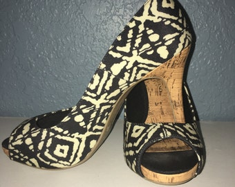 Christian Siriano peep toe pumps