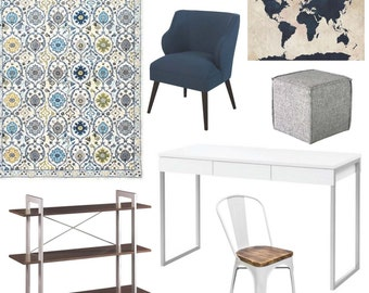 Interior Design Service - Office Design - Virtual Design - Mood Board - Shopping List - Affordable and Easy