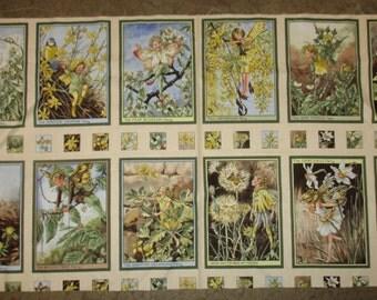 "Sunshine Flower Fairies, panel,M.M. fabrics 6x9"" squares"