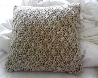 Crocheted cushion