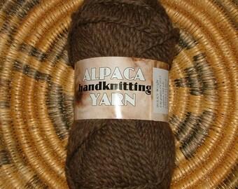 Kraemer Alpaca Handknitting Yarn Made in USA Color No Y2015 Lot No 17603 Brown Crochet  Knit